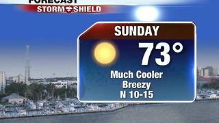 Cooler, Breezy Sunday in SWFL