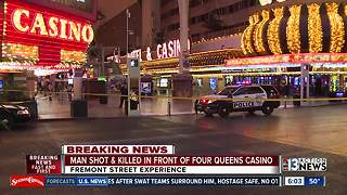 Update on shooting outside Four Queens - Video