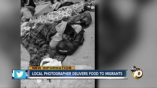 Local photographer delivers food to migrants