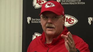 Andy Reid frustrated about Kelce questions - Video