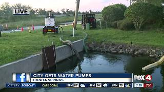 Pumps working to dry up Bonita Springs flooding - Video