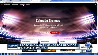 Campaign kicks off to rename Denver Broncos as 'Colorado Broncos' - Video