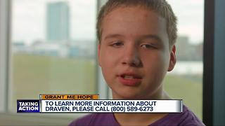 Grant Me Hope: Draven is searching for his forever family - Video