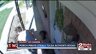 Pricey box of books stolen from Tulsa author's porch