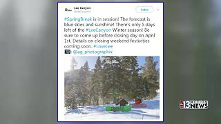 Lee Canyon closes Easter Sunday - Video