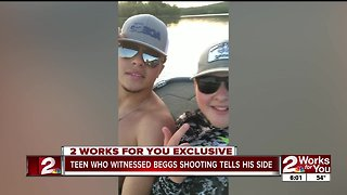 Teen who witnessed Beggs shooting shares his story - Video