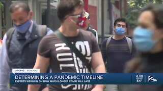 Experts weigh in on much longer pandemic will last
