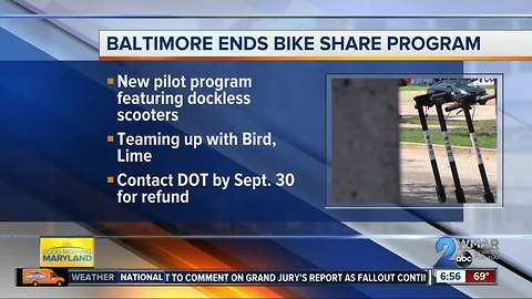 Dockless scooters get green light in Baltimore