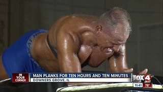 Man breaks record for planking