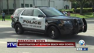 Boynton High lockdown