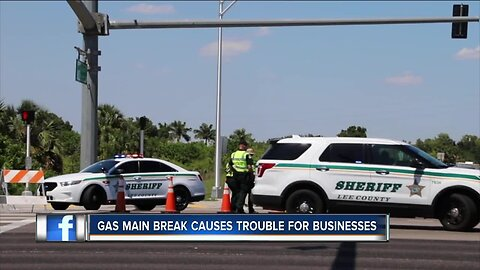 Gas main break causes trouble for businesses
