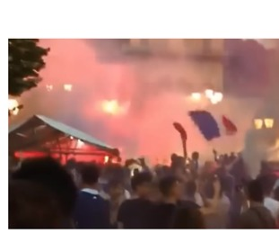 French Football Fans Celebrate World Cup Semi-Final Win Before Stampede in Nice - Video