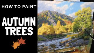 How to Paint AUTUMN TREES