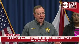 Sheriff Judd: Every Polk Co. public school will have an armed officer on campus next week - Video