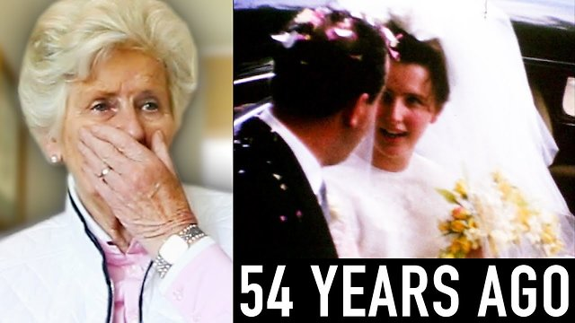 Grandma reacts to her long lost wedding film - Video