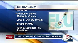 Indy clinics offer low-cost flu shots - Video