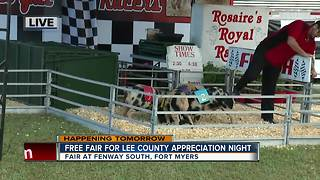 Free fair for Lee County Appreciation Night - Video