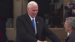 Mike Pence is presented at the Presidential inauguration ceremony - Video
