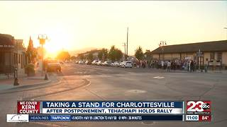 Tehachapi rally standing for Charlottesville - Video