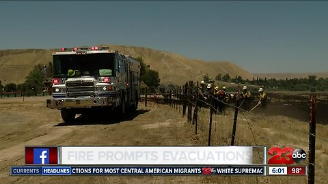 Fire prompted evacuations in Northeast Bakersfield