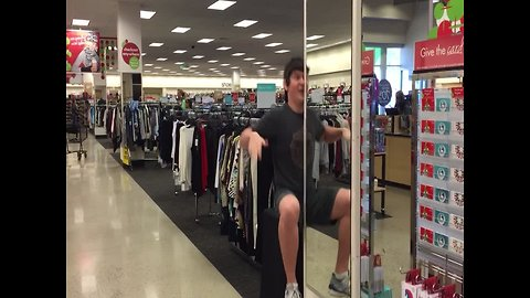 Boy does Crazy Trick with Mirror