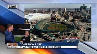 What can fans expect at Comerica Park this season - Video
