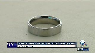 Family finds wedding ring at the bottom of a lake
