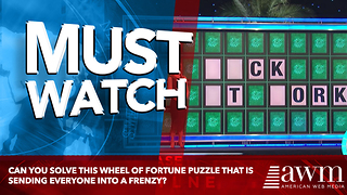 This Wheel Of Fortune Puzzle Had Us Laughing Out Loud - Video