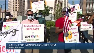 Rally for immigration reform held in Detroit