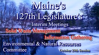 20151028 ENR Waste Management Meeting Committee Discussions Pt 1 of 2