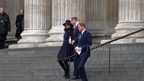 Royals attend Grenfell memorial at London's St Paul's Cathedral