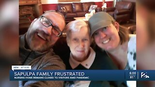 Woman unable to see mother at nursing home