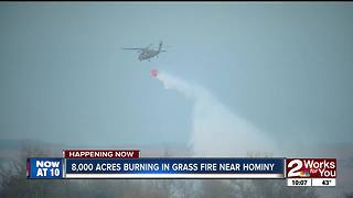 Crews battle massive grass fire in Osage County - Video