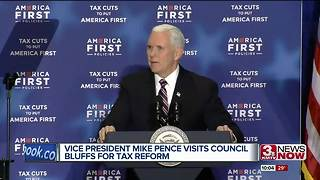 Vice President Mike Pence visits Council Bluffs for Tax Reform - Video
