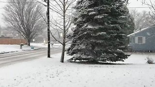 Snow Rapidly Covers Potsdam as Winter Storm Hits Upstate New York - Video