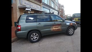 Storm Chase Vehicle spotted in Guthrie, Oklahoma Echo Chasers