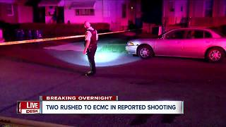 Two rushed to ECMC after overnight shooting