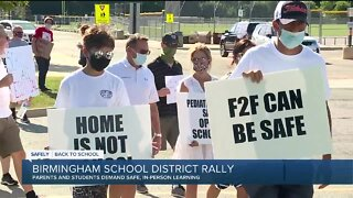 Birmingham parents rally to demand safe, in-person learning