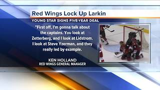 Red Wings sign Dylan Larkin to five-year deal, pointing to him as a future captain - Video