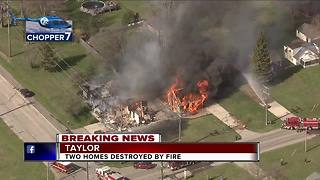 Two homes destroyed by fire - Video
