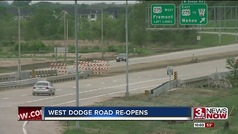 2 months after closing due to flooding, West Dodge Road is open again