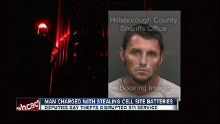 Ruskin man arrested for breaking into cell phone towers and stealing batteries - Video