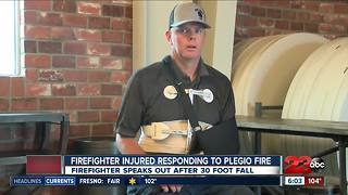 KCFD firefighter injured after falling 30 feet speaks out - Video