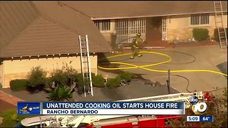 Unattended cooking oil starts house fire