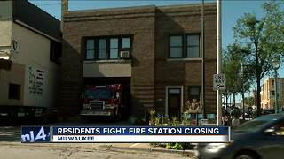 Milwaukee residents fight fire station closing - Video