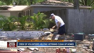 Crew of volunteers help veterans clean up their homes - Video