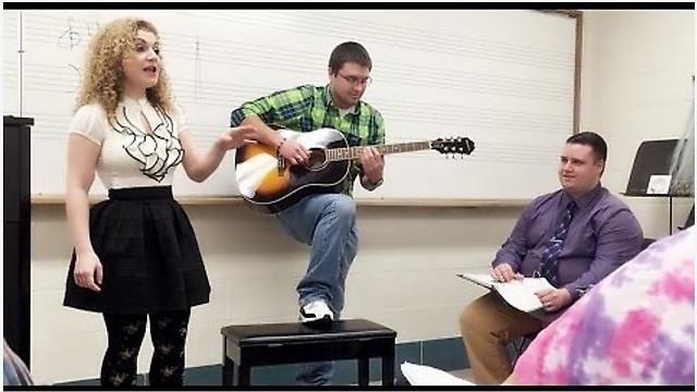 Music Teacher Starts Singing Pop Song, Then The Entire Class Does Something Incredible