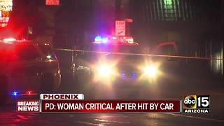 Woman hit by car in central Phoenix - Video