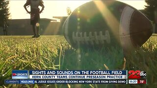 Sights and Sounds of the first week of high school football practices