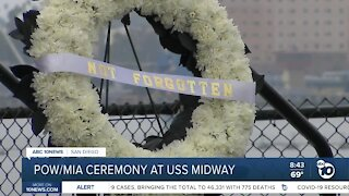 Ceremony to remember POW/MIA held on USS Midway